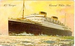Georgic, the ship my parents came over on